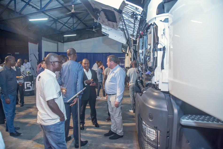 More than 150 customers from the transport and mining sectors attend the event to discover the MAN Trucks designed for Africa (PRNewsfoto/BIA Group and MAN Truck & Bus AG)