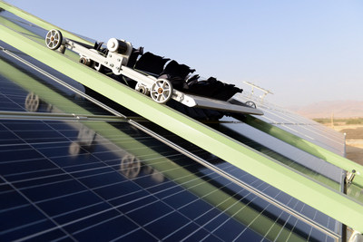 Ecoppia E4 robot to be cleaning Softbank 580MWp solar project In Rajasthan, India