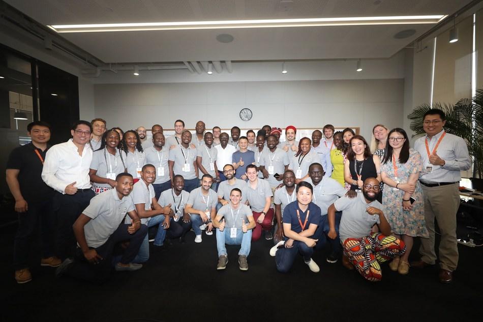 Alibaba Group Executive Chairman Jack Ma, UNCTAD Secretary-General Mukhisa Kituyi and UNCTAD staff with the third eFounders Fellowship Cohort