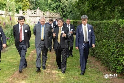 HRH The Duke of York walks to the Italian Sunken Garden