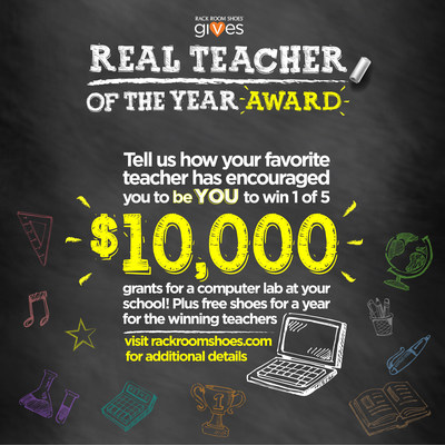 Rack Room Shoes announces Real Teacher of the Year Contest thumbnail