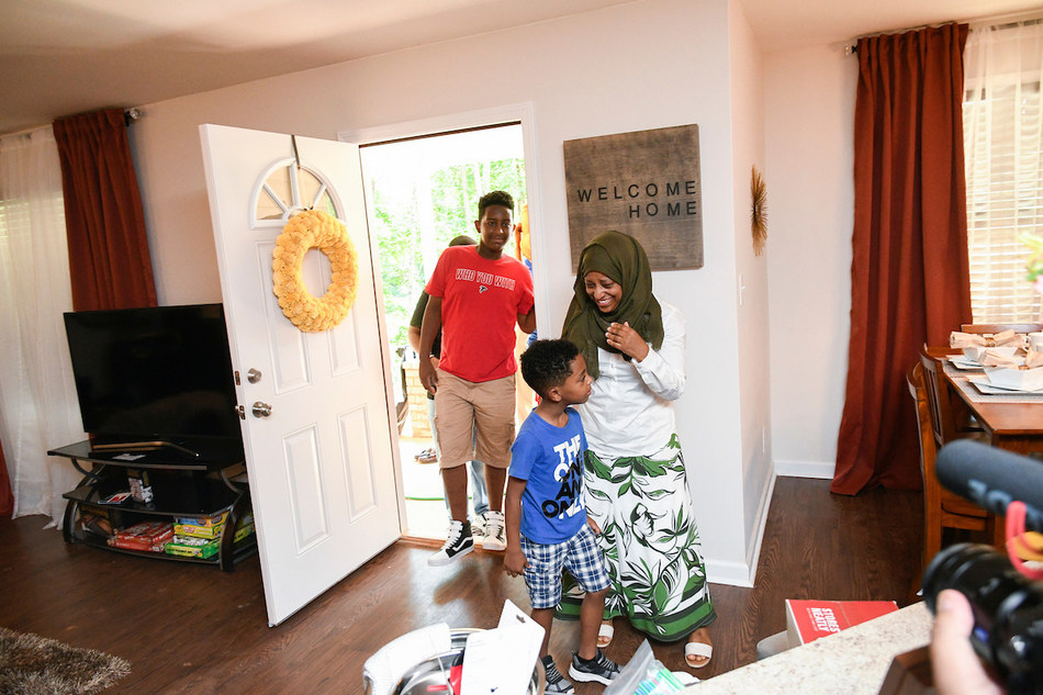 Jobir's home was the 161st home presentation by Warrick Dunn Charities' (WDC) Homes for the Holidays program, which assists single parents in becoming first-time homeowners.  In partnership with Aaron's and Habitat for Humanity affiliates, WDC provides the materials necessary for long-term stability and the provisions required to make a meaningful impact on the parents and their families.