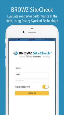 BROWZ SiteCheck login screen.