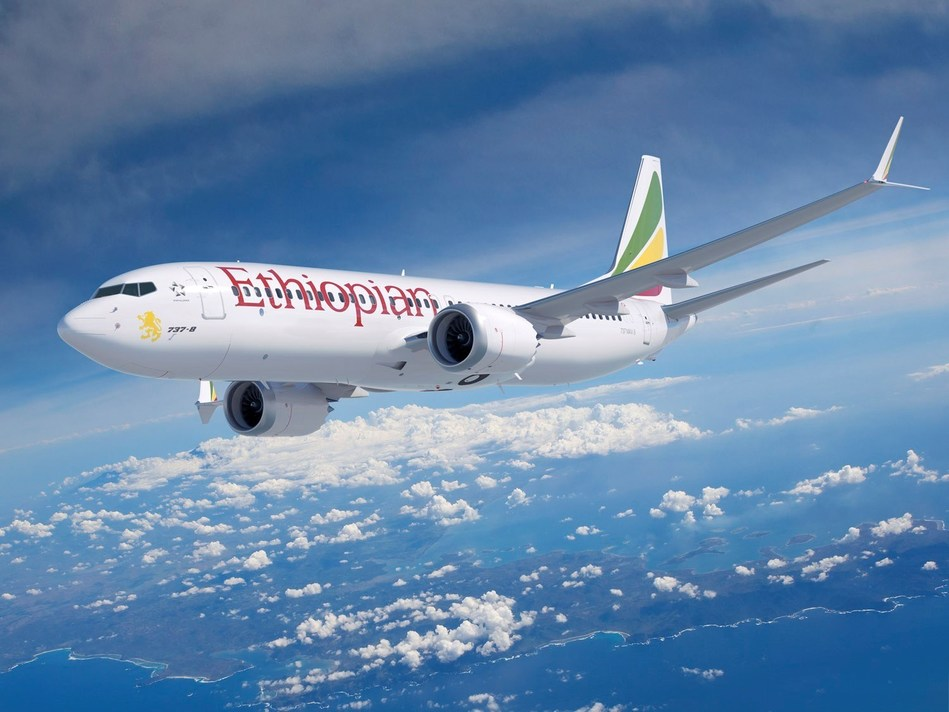 Ethiopian Airlines takes delivery of its first Boeing 737 MAX 8.