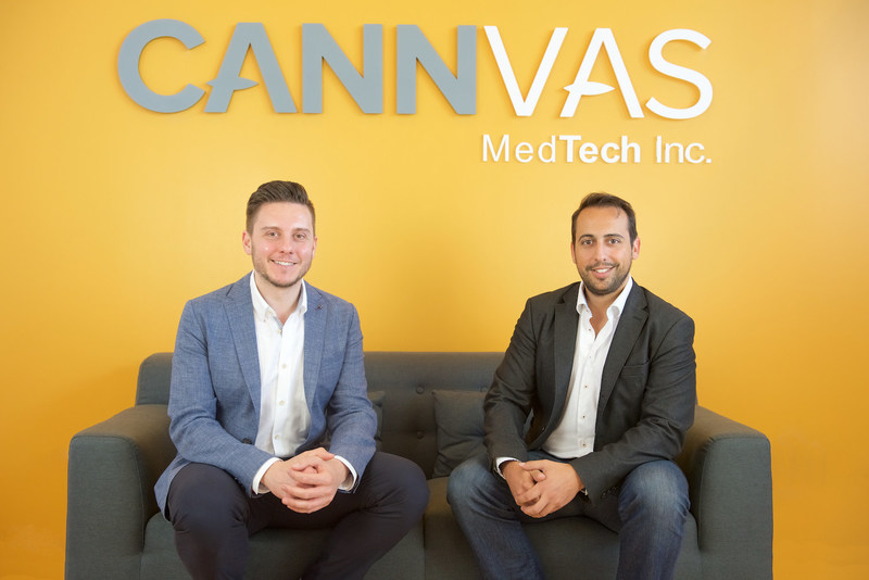 Shawn Moniz, CEO and Steve Loutskou, COO of Cannvas MedTech Inc. (CNW Group/Cannvas MedTech Inc.)