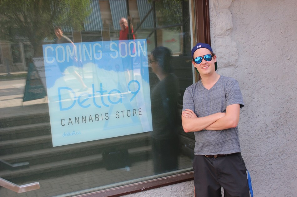 Delta 9 Cannabis CEO John Arbuthnot takes a break from renovations at the soon-to-be opened Delta 9 Lifestyles cannabis store in the Osborne Village area of Winnipeg. (CNW Group/Delta 9 Cannabis Inc.)