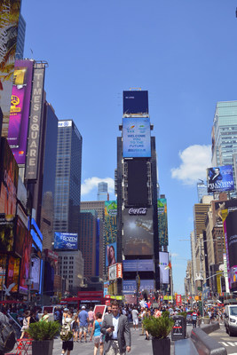 The Country Garden Sci-Tech Town campaign is shown at Times Square of New York City.
