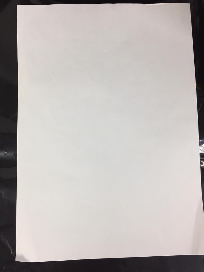 Graphene Quantum Dots Inkjet Ink on normal paper under normal room light