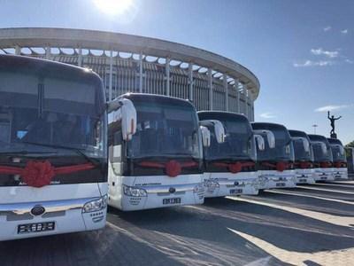 Yutong Bus suministró 300 autobuses a Rusia para el Campeonato Mundial de Fútbol. (PRNewsfoto/Yutong Bus)