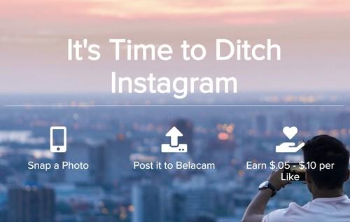 Belacam.com is a social media site where you get paid for the photos you post.