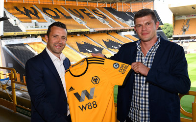 Laurie Dalrymple Wolves Managing Director (left) and Kajetan Ma?kowiak CoinDeal co-founder (right)