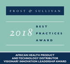Frost & Sullivan recognizes Kiara Health with the 2018 African Visionary Innovation Leadership Award for its efforts to raise the level of healthcare in Sub-Saharan Africa. (PRNewsfoto/Frost & Sullivan)