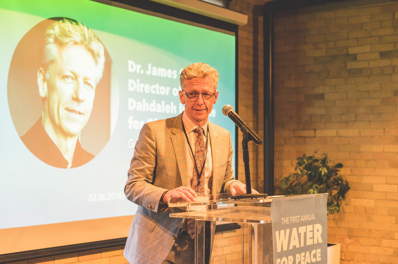 Dr. James Orbinski, Director of the Dahdaleh Institute for Global Health Research, addresses guests at Water for Peace. (CNW Group/The Rainmaker Enterprise)