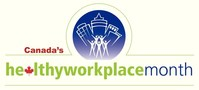Logo for Canada's Healthy Workplace Month 2018 (CNW Group/Excellence Canada)