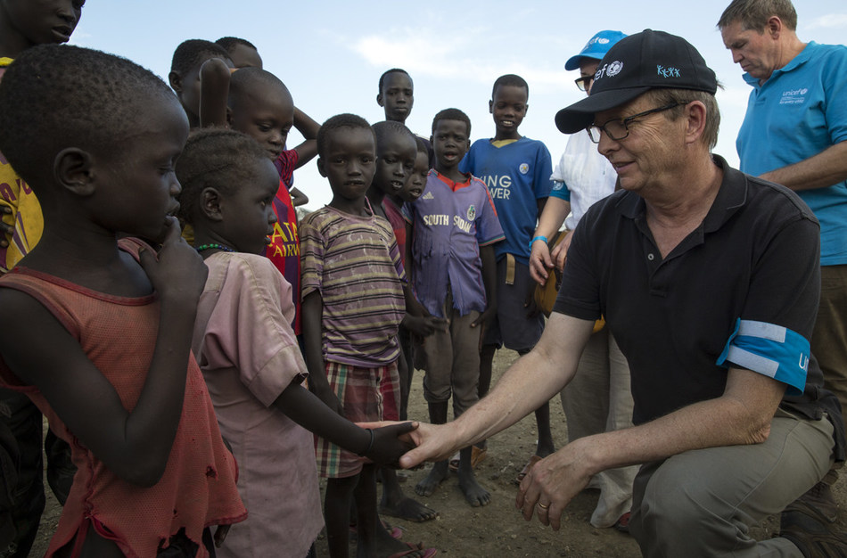 David Morley, UNICEF Canada President and CEO, on a field visit to South Sudan, November 2017. (c) UNICEF Canada (CNW Group/UNICEF Canada)