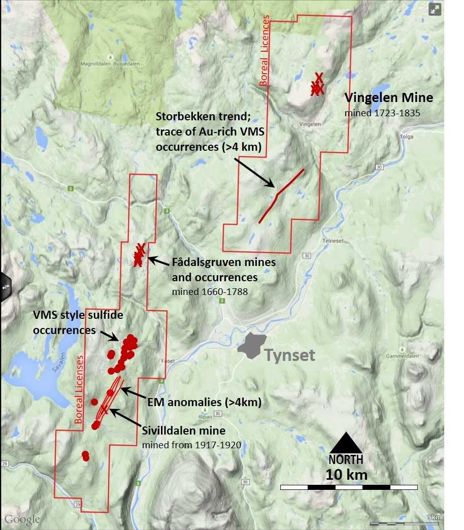 Tynset Project (CNW Group/Boreal Metals)
