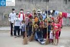 Anant Fellows clean Hinglaj Nagar with Anganwadi kids (PRNewsfoto/Anant National University)