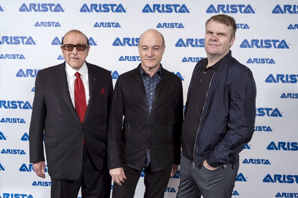 Pictured left to right: Clive Davis, Chief Creative Officer, Sony Music Entertainment, David Massey, President and CEO, Arista Records, Rob Stringer, CEO, Sony Music Entertainment.