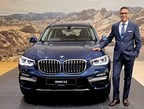 Mr. Vikram Pawah, President, BMW Group India with the all-new BMW X3 (PRNewsfoto/BMW India Private Limited)
