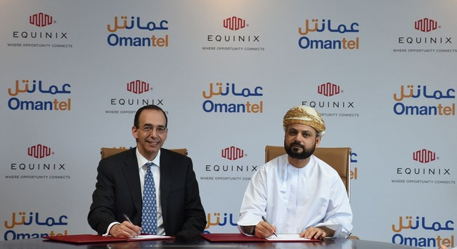 Equinix and Omantel signing ceremony of the new Oman joint venture on July 2, 2018.