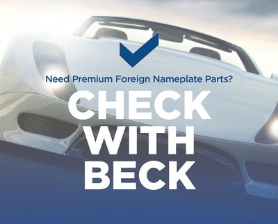 For your foreign nameplate product needs, Check with Beck.