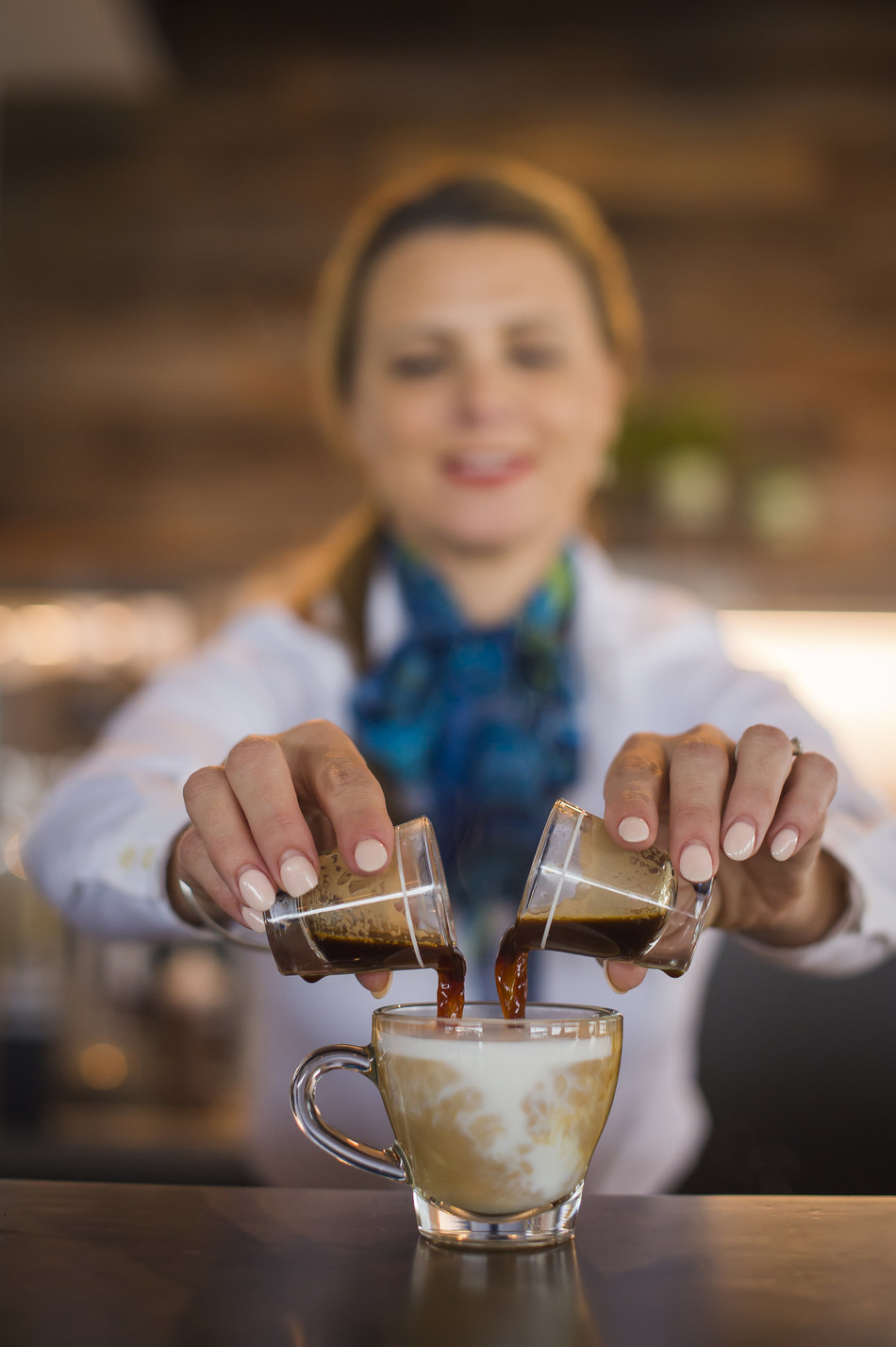 The new Alaska Lounge includes Starbucks-trained baristas who will create custom handcrafted espresso beverages and full-leaf tea beverages for guests.