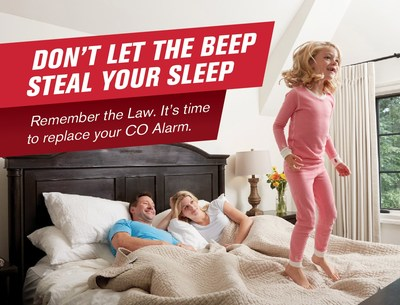 Don't let the beep steal your sleep. Remember the law. It's time to replace your CO alarm.