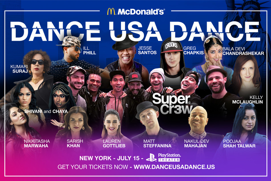 The Amazing Star-Studded McDonald's Dance USA Dance Season 2 Grand Finale is On July 15th at the Playstation Theater, Times Square, NYC. Featuring - SuperCr3w, Matt Steffanina, Lauren Gottlieb, Nakul Dev Mahajan, DJ Mike Murda and more.