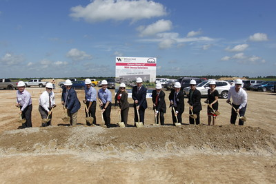 From left to right: Glenn Plowman, President, Twinwood Development; Vince Yokom, Waller County Economic Development Partnership; Judge Trey Duhon, Waller County; Ruben Caparros, MAN Energy Solutions; Florian Schiller, MAN Energy Solutions; Katie Sandoval, Whitney Bank; Welcome Wilson Jr., Welcome Group; Tony Ruegger, MAN Energy Solutions; Florian Papenberg, MAN Energy Solutions; Glenn Hegar, Texas Comptroller of Public Accounts; Lois Kolkhurst, Texas State Senator; Keith Dalton, KDW.
