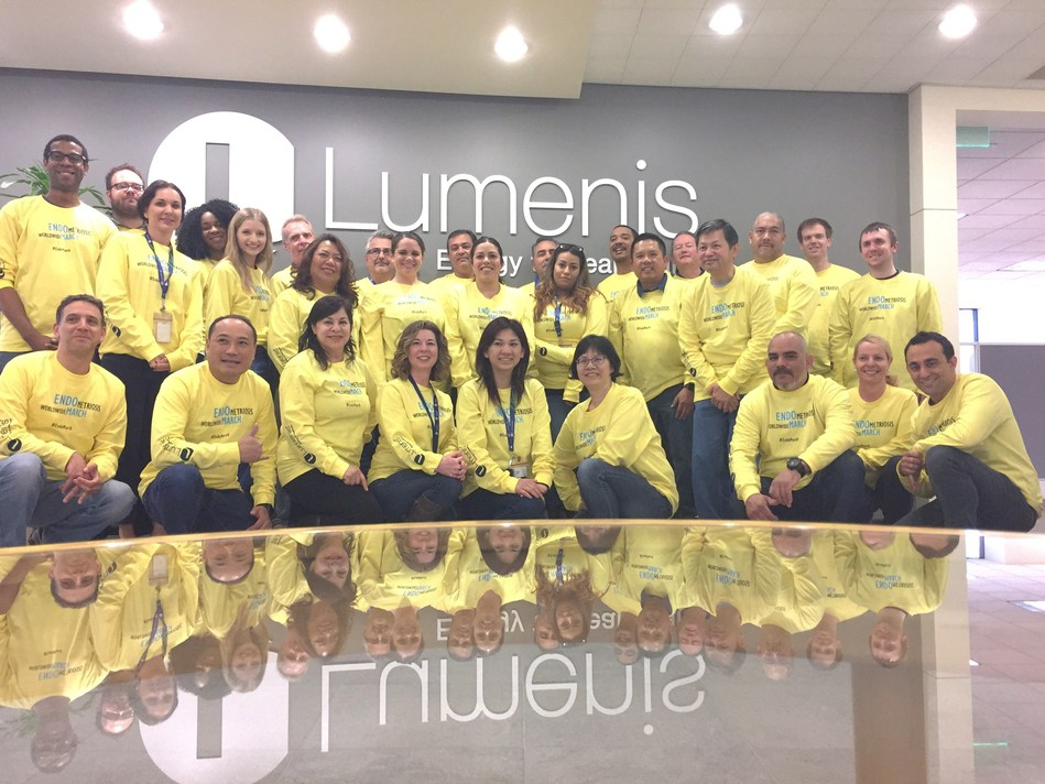 Lumenis San Jose office in support of Worldwide EndoMarch and endometriosis awareness!