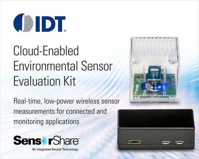 Cloud-Enabled Environmental Sensor Evaluation Kit:  Real-time, low-power wireless sensor measurements for connected and monitoring applications.