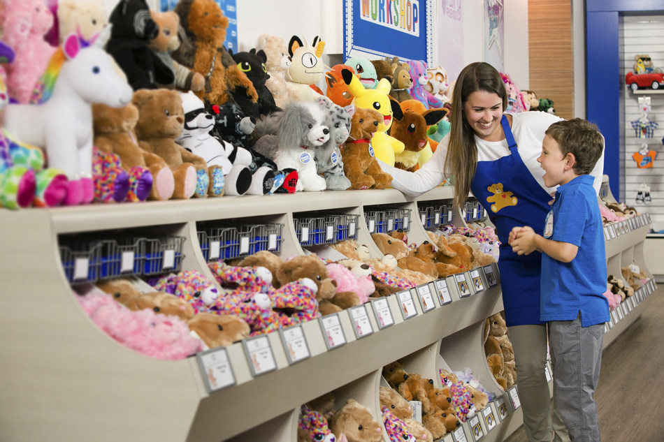 """On July 12 only, Guests who visit a Build-A-Bear Workshop store in person can pay their current age, in dollars, for any Make-Your-Own furry friend available in the store for the company's first-ever """"Pay Your Age Day"""" event."""
