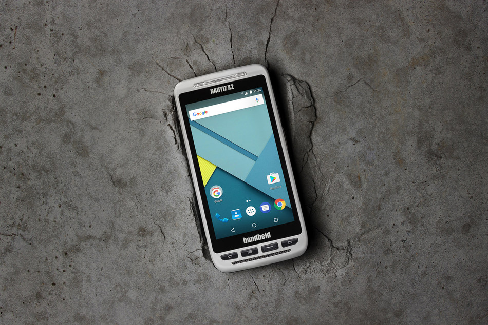 NAUTIZ X2 All-In-One Rugged Android Handheld Upgraded to Android 7.0 (PRNewsfoto/Handheld Group)