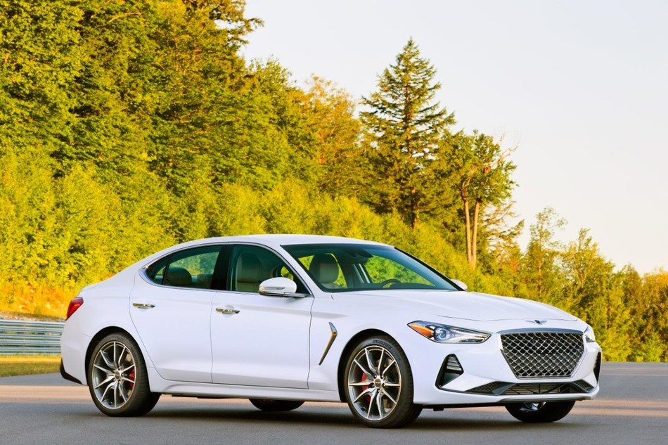 The 2019 Genesis G70 launched to media today in Cape Neddick, Maine.