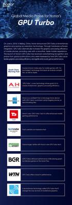 Elogios da mídia para a GPU Turbo (com citações) (PRNewsfoto/Honor)
