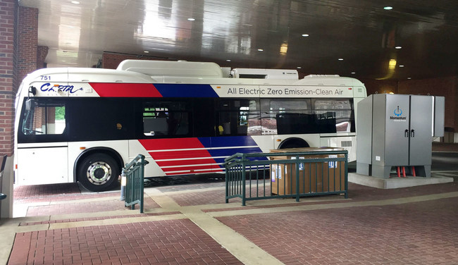 Momentum Dynamics Wireless Charging System at 200kW - CARTA Electric Bus