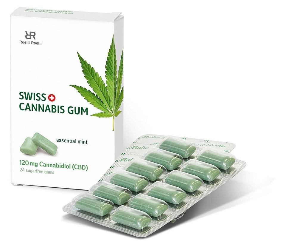 Swiss Cannabis Gum, 120 mg Cannabidiol (CBD). (PRNewsfoto/roelli roelli confectionery ag)