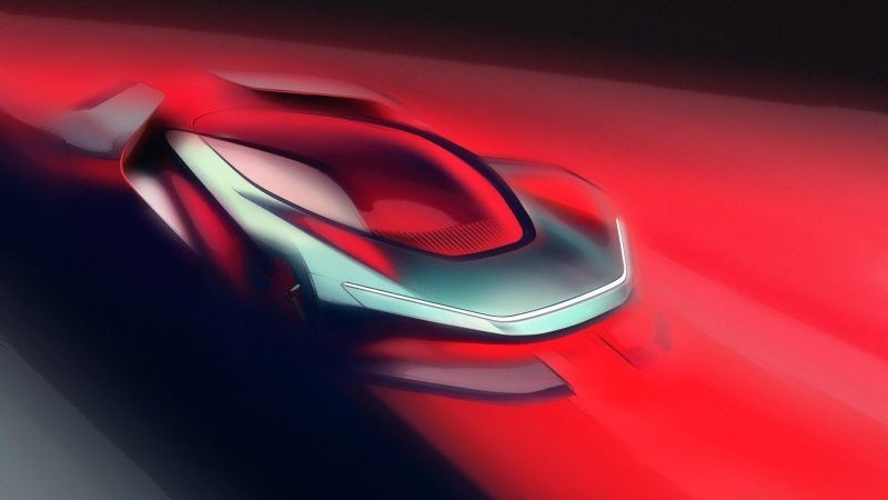 Automobili Pininfarina PF0 Concept Sketch (PRNewsfoto/Automobili Pininfarina)