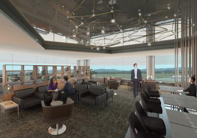 Une image de l'intérieur du nouveau Salon Feuille d''érable à l'aéroport de St. John's. (Groupe CNW/Air Canada)