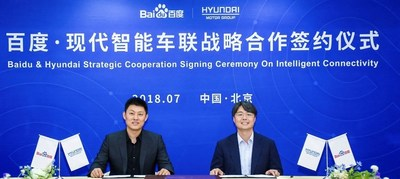 Hyundai Motor Group (Hyundai) and Baidu today announced the signing of a memorandum of understanding (MOU) for Internet of Vehicles (IoV), signaling their commitment to strengthening cooperation on next-generation connected car technologies. The newly-signed MOU will see the existing partnership — between the world's fifth-largest auto-making group and the leading Chinese language Internet search provider — reinforced to accelerate development of disruptive innovations in vehicle connectivity.
