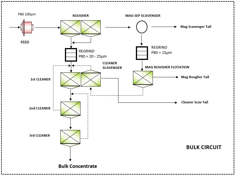 Figure 1 – Rougher and Cleaner Flowsheet (CNW Group/Nickel Creek Platinum Corp.)