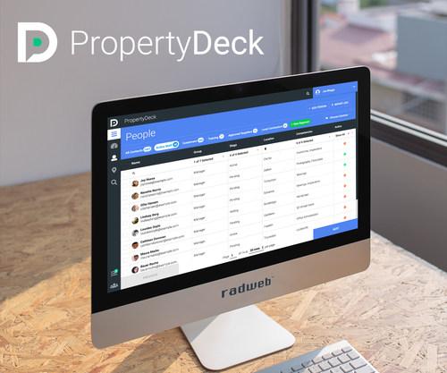 Property Deck CRM for property professionals (PRNewsfoto/Radweb)