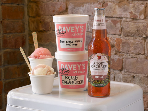 Your Next Rosé Treat Is Here In Time For National Ice Cream Day on July 15, Courtesy Of Angry Orchard & Davey's Ice Cream
