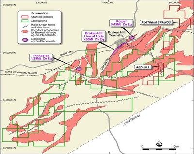 Figure 1: Property Outline of Prospective Corridors for Base Metals Deposits (CNW Group/Bluebird Battery Metals)