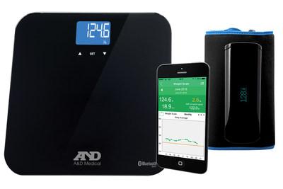 Os dispositivos conectados de pressão arterial e escala de peso da A A&D Medical possibilitam melhor administração da saúde.
