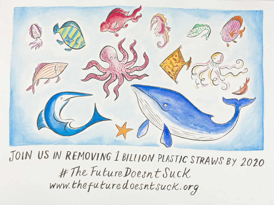 Bacardi Limited and Lonely Whale have joined forces with the goal to eliminate one billion single-use plastic straws by 2020. Together they are encouraging consumers and businesses around the world to pledge their support at www.thefuturedoesntsuck.org.