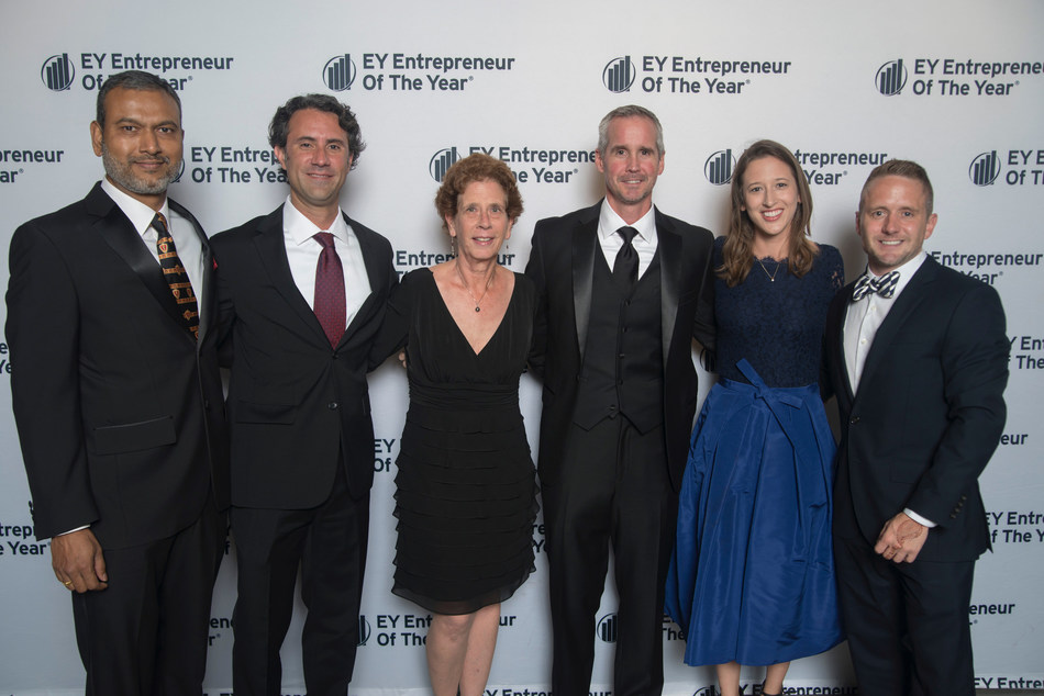 Jon Ziglar and the ParkMobile team at the EY Entrepreneur of the Year event in Atlanta.