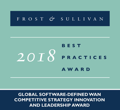 2018 Global Software-defined WAN Competitive Strategy Innovation and Leadership Award