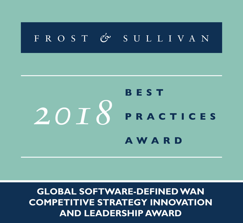 2018 Global Software-defined WAN Competitive Strategy Innovation and Leadership Award (PRNewsfoto/Frost & Sullivan)