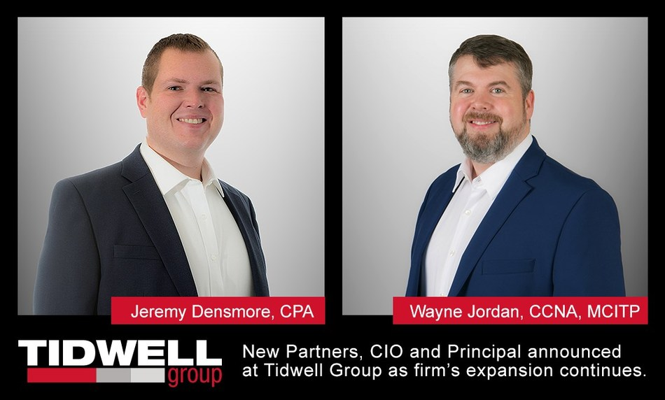 New Partners, CIO and Principal announced at Tidwell Group as firm's expansion continues.